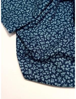 Ткань Листики на синем