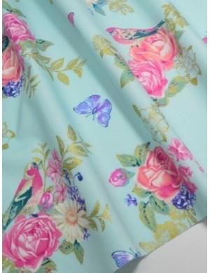 Ткань Розы с глиттером