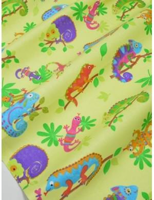 Ткань Игуаны на ветках