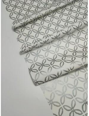 Ткань Белая с серебрянным глиттером