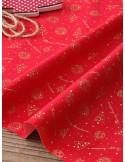 Ткань 100 % Хлопок, Рождество на красном фоне , Плотность 155 г/м2, ширина 110 см