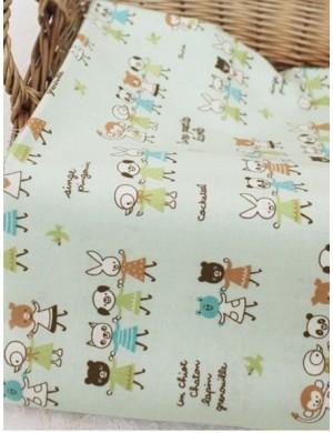 Ткань 100 % Хлопок, Забавные зверюшки, Плотность 155 г/м2, ширина 110 см.