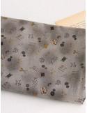 Ткань 100 % Хлопок, Швейные радости на сером, Плотность 155 г/м2, ширина 110 см.