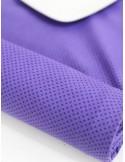 Ткань 100 % хлопок, Горошек на фиолетовом, ширина 110 см, плотность 155 г/м2, производитель Корея