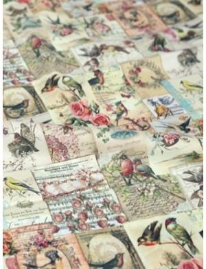 Ткань 100 % хлопок, Марки Птицы, ширина 110 см, плотность 155 г/м2, производитель Корея