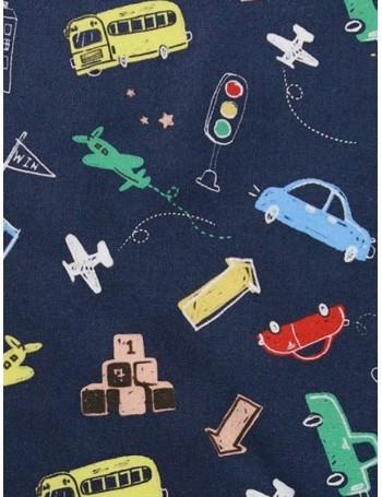 Ткань 100 % хлопок, Детские рисунки на синем, ширина 110 см, плотность 155 г/м2, производитель Корея