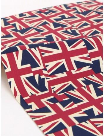 Ткань плотный 100 % Хлопок, Британские Флаги, Плотность 200 г/м2, ширина 150 см,