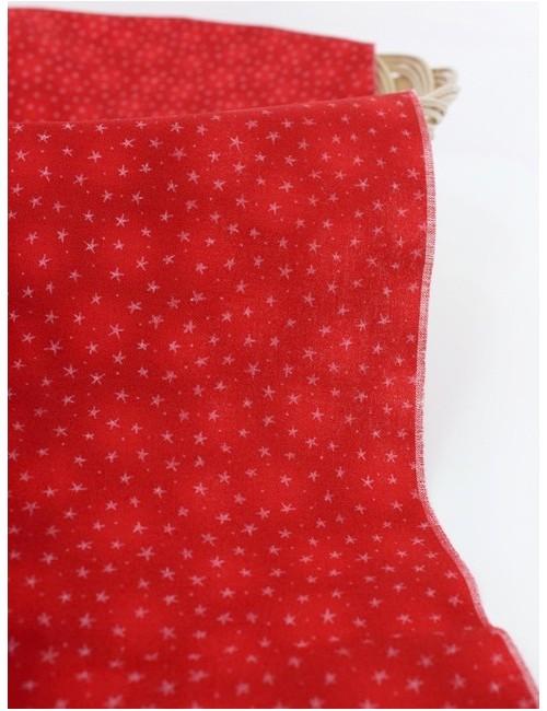 Ткань 100 % хлопок, Звезды на красном , ширина 110 см, плотность 155 г/м2, производитель Корея