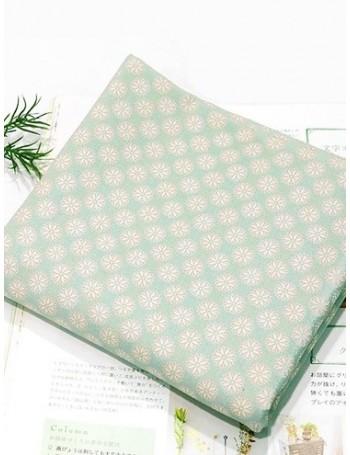 Ткань 100 % хлопок, Ромашки на мятном фоне , ширина 110 см, плотность 155 г/м2, производитель Корея