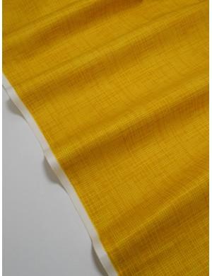 Ткань 100 % хлопок, Клетка на желто-оранжевом фоне , ширина 110 см, плотность 155 г/м2, производитель Корея