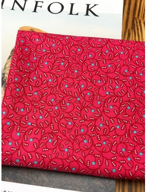 Ткань 100 % хлопок, Завитки на розовом фоне, ширина 110 см, плотность 155 г/м2, производитель Корея