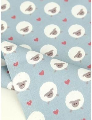 Ткань 100 % хлопок, Влюбленные овечки , ширина 110 см, плотность 155 г/м2, производитель Корея