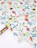 Ткань 100 % хлопок, Лётный клуб , ширина 110 см, плотность 155 г/м2, производитель Корея