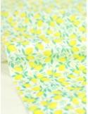 Ткань 100 % хлопок, Лимоны на белом фоне , ширина 110 см, плотность 155 г/м2, производитель Корея