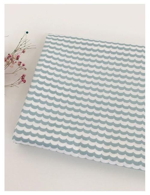 Ткань 100 % хлопок, Волны , ширина 110 см, плотность 155 г/м2, производитель Корея