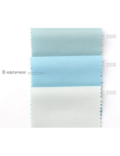 Ткань 100 % хлопок, Однотонный голубой , ширина 110 см, плотность 155 г/м2, производитель Корея