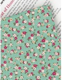Ткань 100 % хлопок, Цвет яблони , ширина 110 см, плотность 155 г/м2, производитель Корея