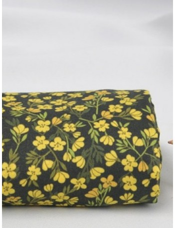 Ткань 100 % хлопок, Желтые крокусы , ширина 110 см, плотность 155 г/м2, производитель Корея