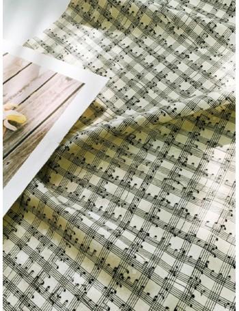 Ткань 100 % хлопок, Ноты, ширина 110 см, плотность 155 г/м2, производитель Корея