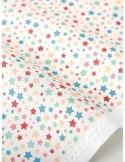 Ткань 100 % хлопок, Разноцветные звезды на белом фоне , ширина 110 см, плотность 155 г/м2, производитель Корея