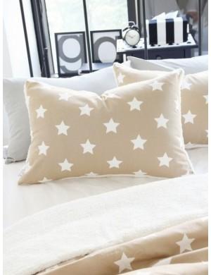 Ткань 100 % хлопок, Звезды песочные , ширина 110 см, плотность 155 г/м2, производитель Корея