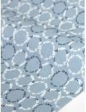 Ткань 100 % Хлопок Dailylike, Веночки на серо-голубом, Плотность 165 г/м2, ширина 110 см.