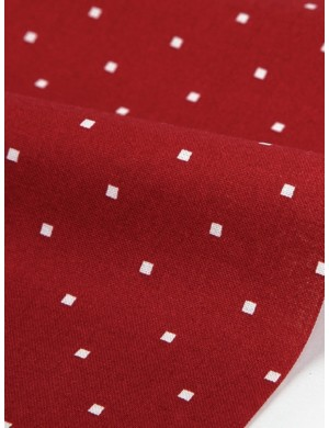 Ткань 100 % Хлопок Dailylike, Квадратики на красном, Плотность 165 г/м2, ширина 110 см.
