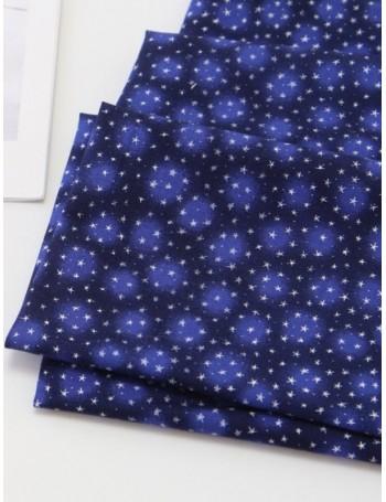 Ткань 100 % хлопок, Звезды на синем, ширина 110 см, плотность 155 г/м2, производитель Корея