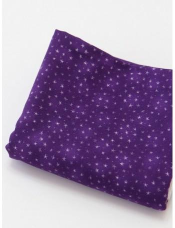 Ткань 100 % хлопок, Звезды на фиолетовом, ширина 110 см, плотность 155 г/м2, производитель Корея