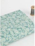 Ткань 100 % хлопок, Ромашки на голубом, ширина 110 см, плотность 155 г/м2, производитель Корея