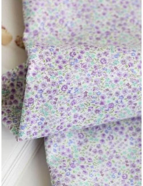 Ткань 100 % хлопок, Мелкие сиреневые цветы, ширина 110 см, плотность 155 г/м2, производитель Корея