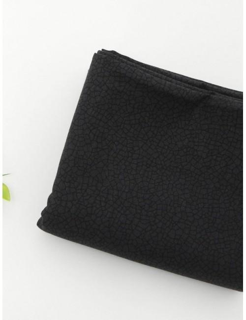 Ткань 100 % хлопок, Мелкий черный арнамент, ширина 110 см, плотность 155 г/м2, производитель Корея