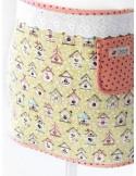 Ткань 100 % хлопок, Скворечник на желтом фоне, ширина 110 см, плотность 155 г/м2, производитель Корея