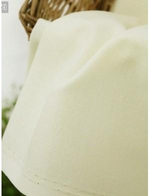 Ткань 100 % хлопок, Однотонная молочная 303, ширина 110 см, плотность 155 г/м2, производитель Корея