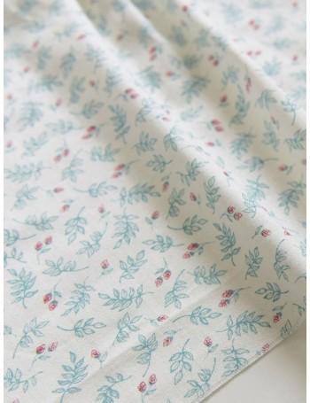 Ткань 100 % хлопок, Веточки бирюзовые, ширина 110 см, плотность 155 г/м2, производитель Корея