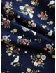 Ткань 100 % хлопок, Цветы и птицы на синем фоне, ширина 110 см, плотность 155 г/м2, производитель Корея