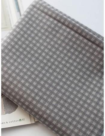 Ткань 100 % хлопок, Клетка серая, ширина 110 см, плотность 155 г/м2, производитель Корея