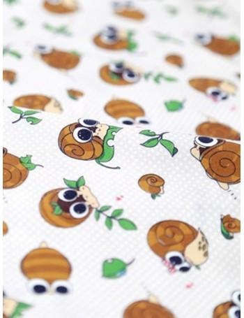 Ткань 100 % хлопок, Улитки на бежевом горохе, ширина 110 см, плотность 155 г/м2, производитель Корея