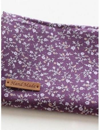 Ткань 100 % хлопок, Мелкий цветочный принт на фиолетовом фоне, ширина 110 см, плотность 155 г/м2, производитель Корея