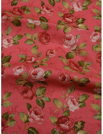 Ткань 100 % хлопок, Розы на розвом фоне, ширина 110 см, плотность 155 г/м2, производитель Корея