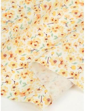 Ткань 100 % хлопок, Цветы вишни желтые, ширина 110 см, плотность 155 г/м2, производитель Корея