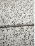 Ткань 100 % хлопок, Черный горох на белом фоне, ширина 110 см, плотность 155 г/м2