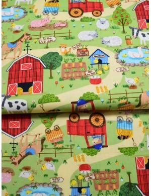 Ткань 100 % Американский хлопок, Ферма, ширина 110 см, плотность 155 г/м2