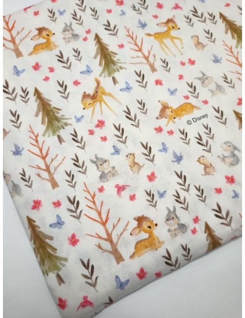 Ткань 100 % хлопок, Дисней Бэмби, ширина 110 см, плотность 155 г/м2, производитель Корея