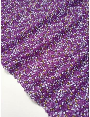 Ткань 100 % хлопок, Фиалки , ширина 110 см, плотность 155 г/м2, производитель Корея