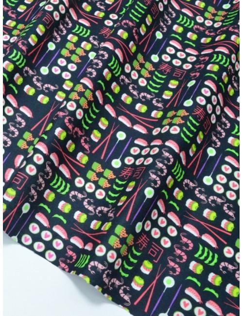 Ткань 100 % Американский хлопок, Лавандовое поле, ширина 110 см, плотность 155 г/м2