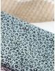 Ткань 100 % хлопок, Леопардовый принт на голубом фоне, ширина 110 см, плотность 155 г/м2, производитель Корея