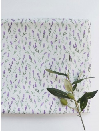 Ткань 100 % хлопок, Цветы лаванды, ширина 110 см, плотность 155 г/м2, производитель Корея