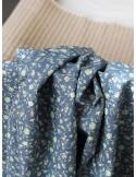Ткань 100 % хлопок, Шебби розочки на синем фоне, ширина 110 см, плотность 155 г/м2, производитель Корея