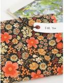 Ткань 100 % хлопок, Цветущая ночь, ширина 110 см, плотность 155 г/м2, производитель Корея